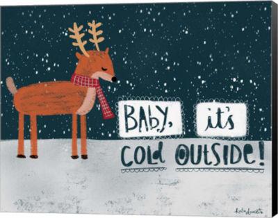 Metaverse Art Cold Reindeer Canvas Wall Art