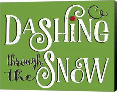 Metaverse Art Dashing Through The Snow Canvas Wal Art