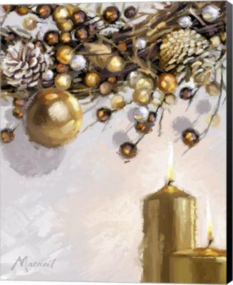 Metaverse Art Gold Candles 1 Canvas Wall Art