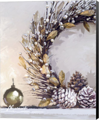 Metaverse Art Gold Wreath Canvas Wall Art