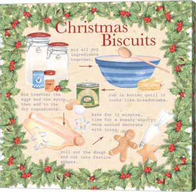 Metaverse Art Christmas Biscuits 2 Canvas Wall Art
