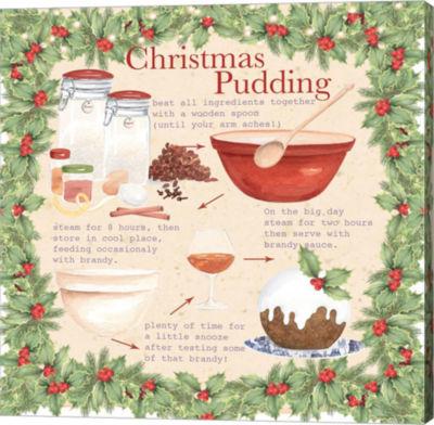 Metaverse Art Christmas Pudding 2 Canvas Wall Art