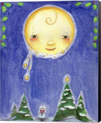 Metaverse Art Holiday Moon Canvas Wall Art