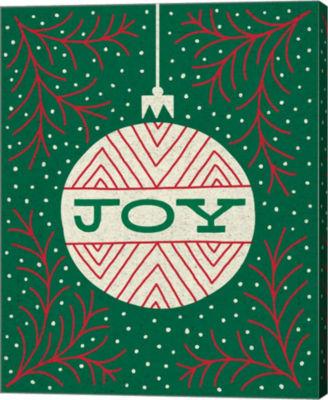 Metaverse Art Jolly Holiday Ornaments Joy Canvas Wall Art