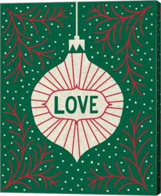 Metaverse Art Jolly Holiday Ornaments Love CanvasWall Art