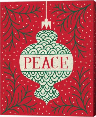 Metaverse Art Jolly Holiday Ornaments Peace CanvasWall Art