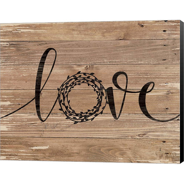 Metaverse Art Love Wreath Canvas Wall Art