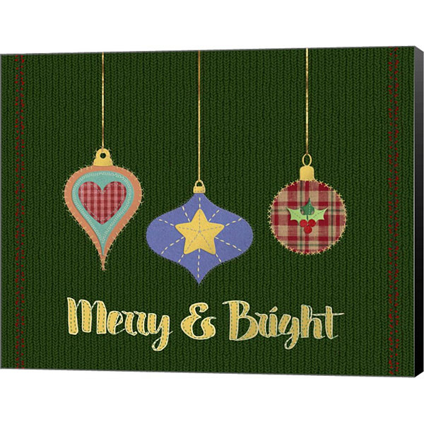 Metaverse Art Merry and Bright Canvas Wall Art