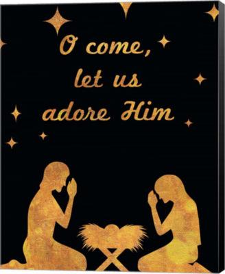 Metaverse Art O Christmas I (Nativity) Canvas Wall Art