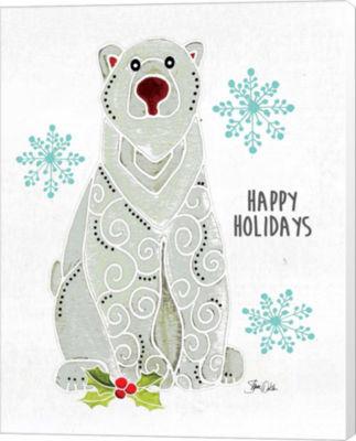 Metaverse Art Polar Bear Canvas Wall Art