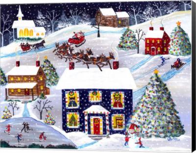 Metaverse Art Santa Reindeer Christmas Eve Canvas wall Art