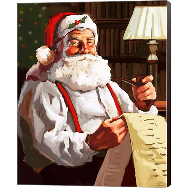 Metaverse Art Santa's List Canvas Wall Art
