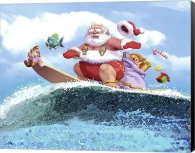 Metaverse Art Santa's Vacation Canvas Wall Art