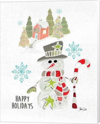 Metaverse Art Snowman Canvas Wall Art