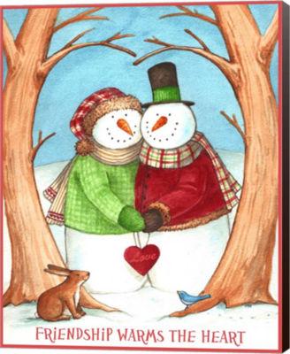 Metaverse Art Snowman Tree Heart Share Canvas WallArt
