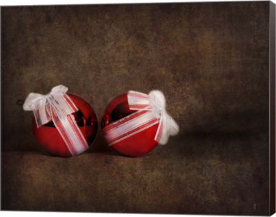 Metaverse Art Two Red Ornaments Still Life Canvas wall Art