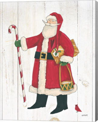 Metaverse Art Vintage St Nick II No Words On Whitewood Canvas Wall Art
