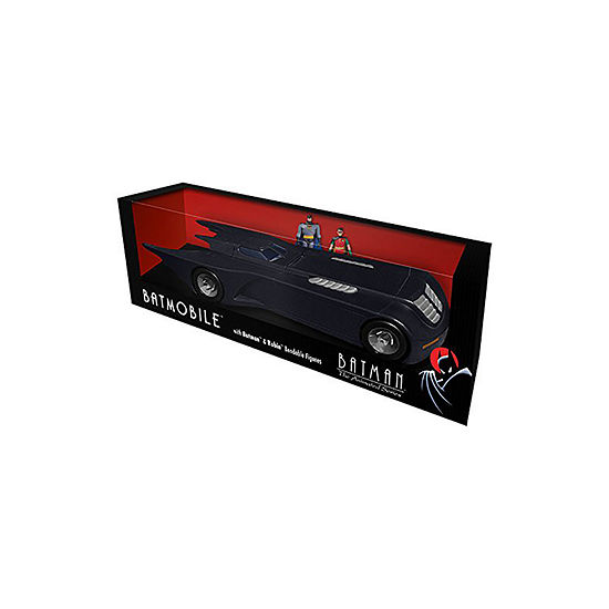 Batman The Animated Series Batmobile Carw/ Batman & Robin Mini Bendable Figures