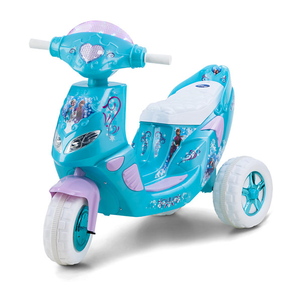 KidTrax Disney Frozen Twinkling Scooter 6Volt Electric Ride-on in Blue