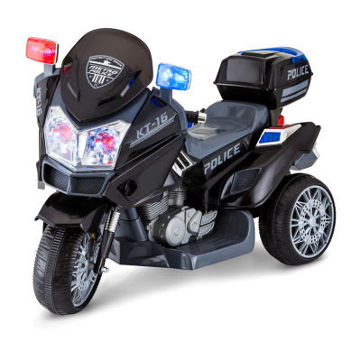 KidTrax Police Rescue Motorcycle 6Volt Electric Ride-on in Black