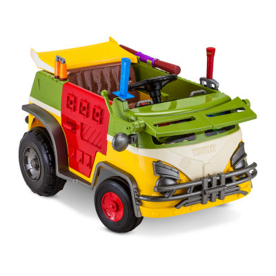 KidTrax Teenage Mutant Ninja Turtles TMNT Party Wagon 6Volt Electric Ride-on in Green Multi