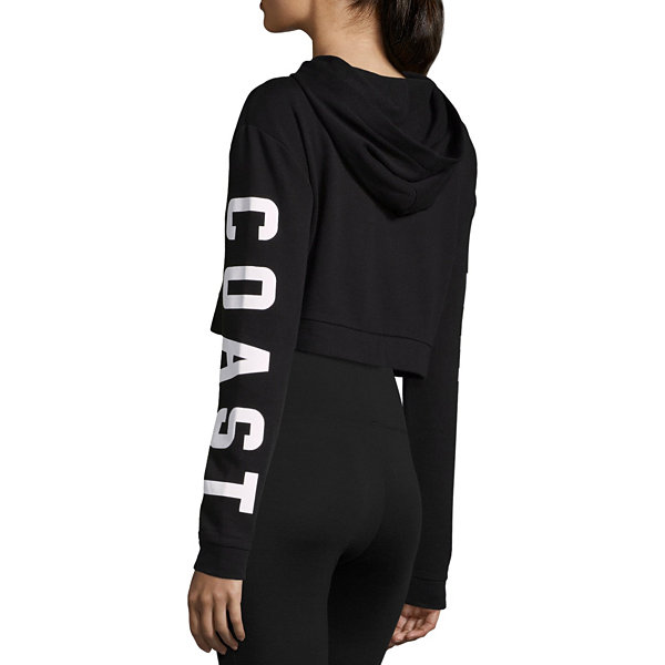 Flirtitude West Coast Cropped Sweatshirt - Juniors