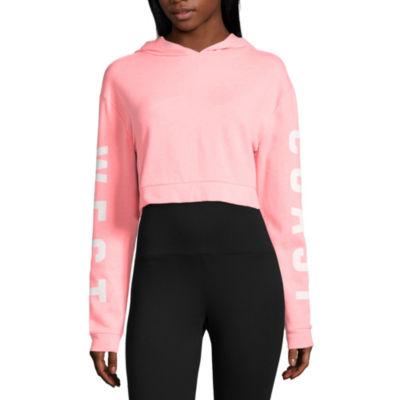 Flirtitude West Coast Cropped Sweatshirt-Juniors