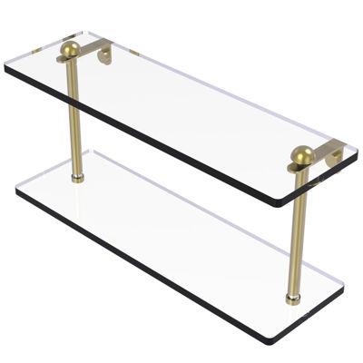 Allied Brass 16 IN Two Tiered Glass Shelf