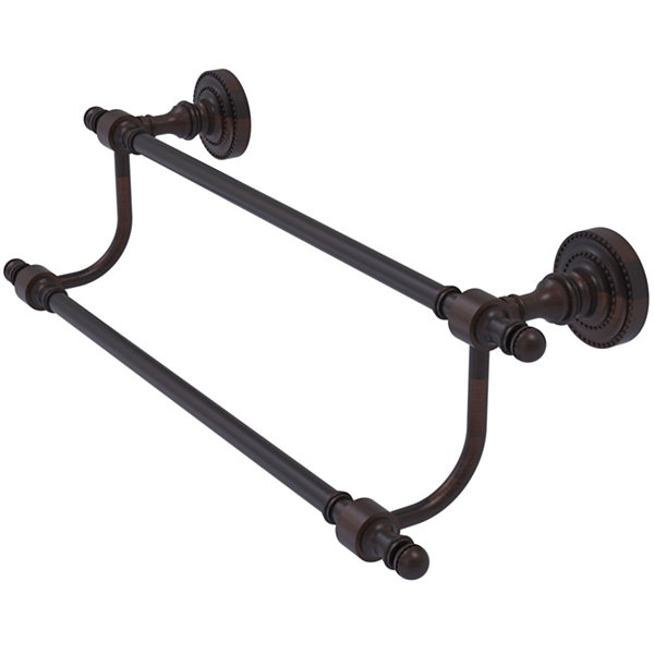 Allied Brass Retro Dot Collection 36 Inch Double Towel Bar