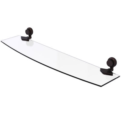Allied Brass Venus Collection 24 IN Glass Shelf With Twist Accents
