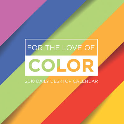 2018 For the Love of Color Daily Desktop Calendar