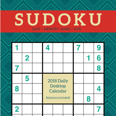 2018 Sudoku Daily Desktop Calendar