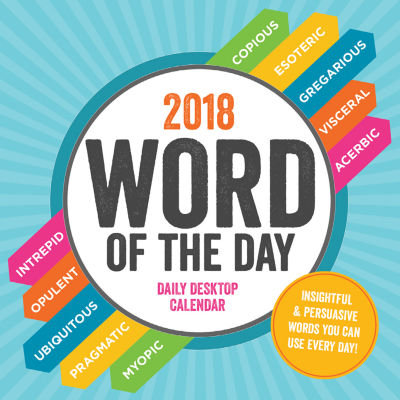 2018 Word of the Day Daily Desktop Calendar