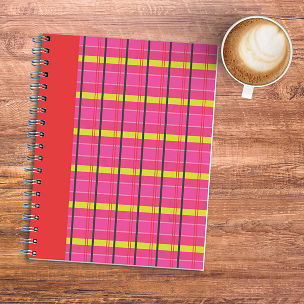 Plaid Spiral Journal