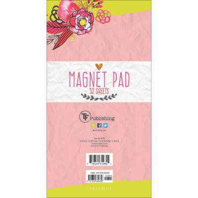 Tf Publishing Flowers Magnet Memo Pad