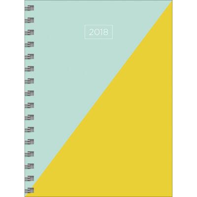 2018 Diag Medium Weekly Monthly Planner