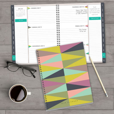 2018 Geometric Large Weekly Monthly Planner