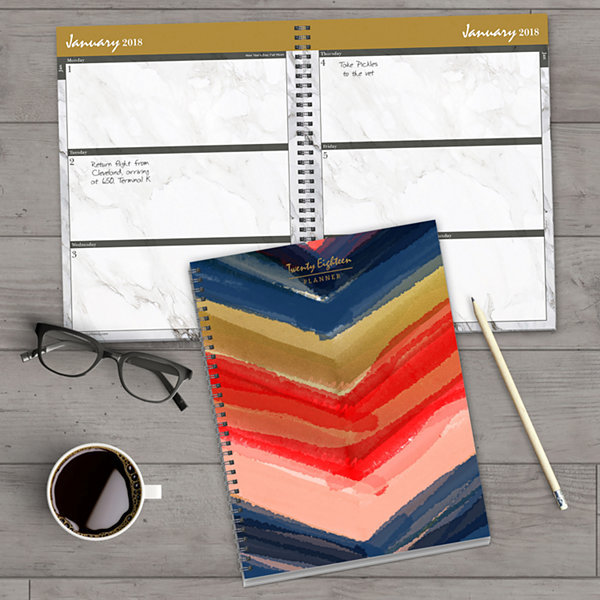2018 Painted Colors Large Weekly Monthly Planner