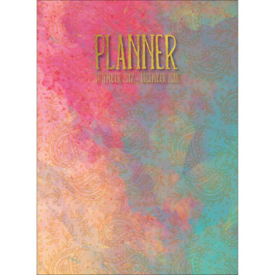 2018 Painted Paisley Monthly Planner