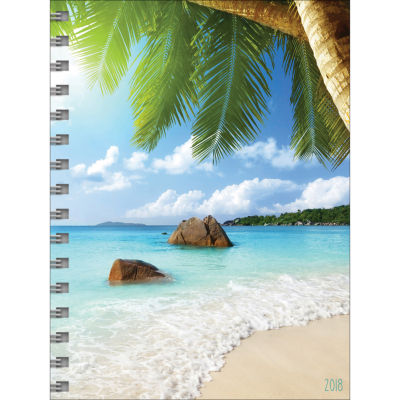 2018 Tropical Beaches Medium Weekly Monthly Planner