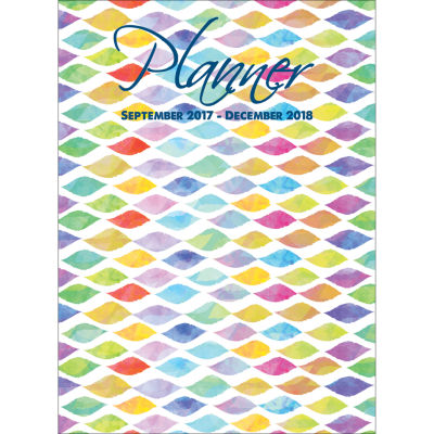 2018 Watercolor Waves Monthly Planner
