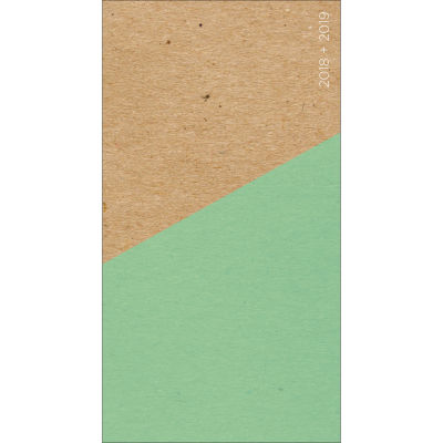 2018-2019 Abstract Mint 2-Year Pocket Planner