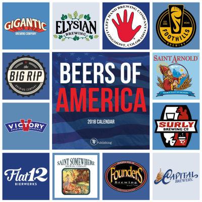2018 Beers of America Wall Calendar