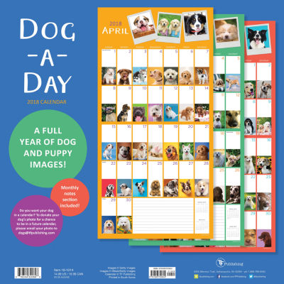2018 Dog-A-Day Wall Calendar