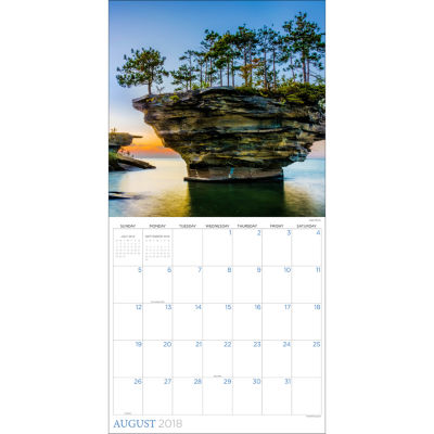 2018 Great Lakes Wall Calendar