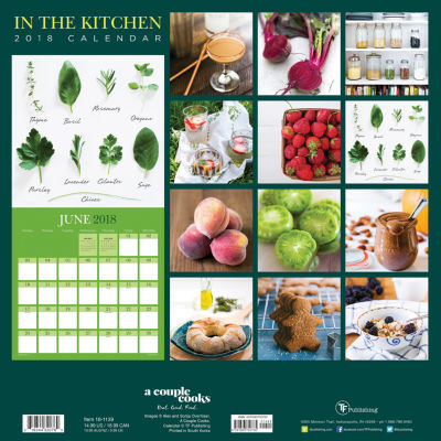 2018 In the Kitchen Wall Calendar