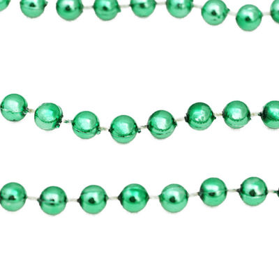100' Christmas Traditions Green Beaded Christmas Garland - Commercial Length