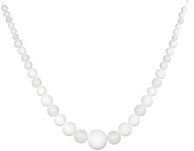 11' Commercial Size Matte & Glitter White Shatterproof Christmas Ball Garland
