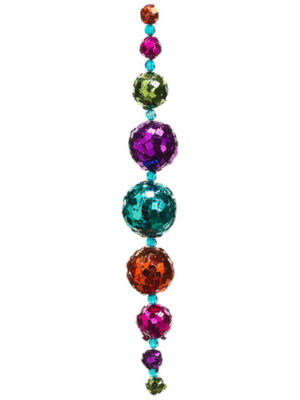 """24"""" Multi-Color Sequined Disco Ball Christmas Garland - Unlit"""""""