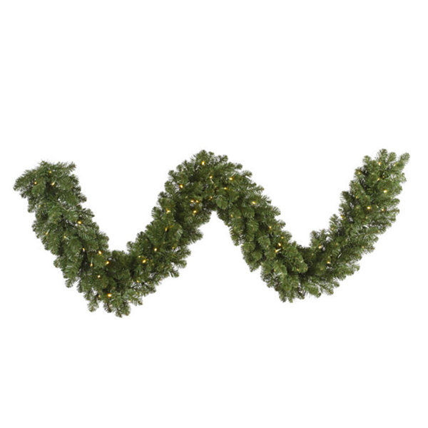 "25' x 18"" Pre-Lit Grand Teton Commercial Length Artificial Christmas Garland - Clear Dura-Lit Lights"""